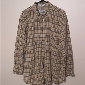 Men's Orvis Corduroy Plaid Shirt Sz XL